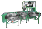 Filling machine NP4 with dosing weigher AV2/2 and rotary table OS