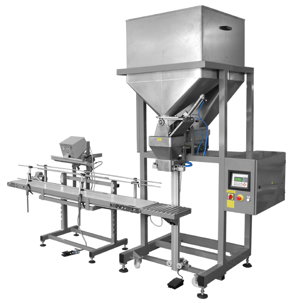 Semi-automatic dosing machines for granulates, loose and small pieces products